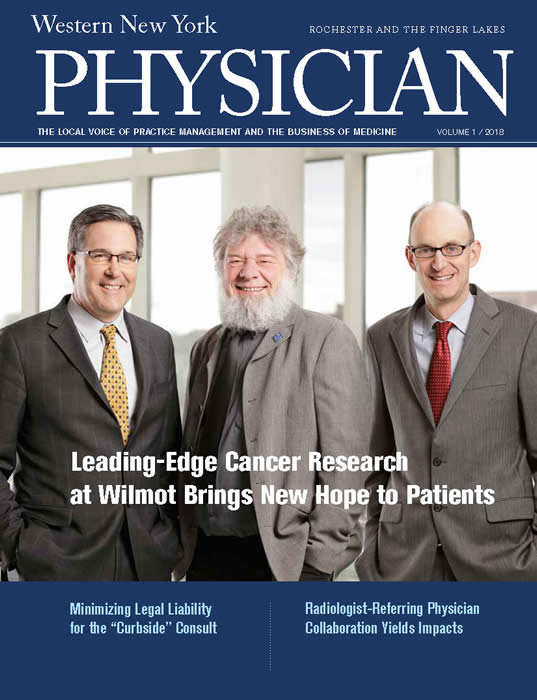 WNY Physician Magazine Vol 1 Rochester 2018